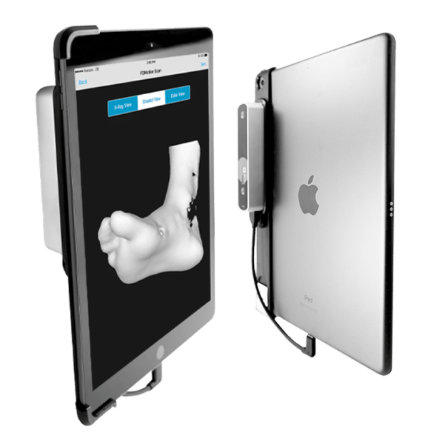 ipan scanner front and back view - Active Orthotics - North York's Custom Foot Orthotics Clinic